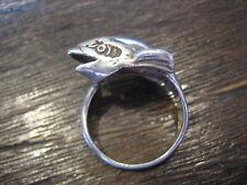 schöner Ring spielender Delfin Delphin Wal 925er Silber 52 RG Taucher Segler