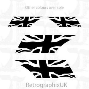 Vespa PX mudguard graphics   stickers   Union Jack   Scooter skinhead mod