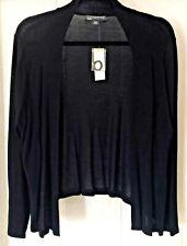 NWT Covington Open Front High Low Long Sleeve Cardigan Black Size Petite XL $40