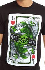 Nintendo Legend of Zelda Link Playing Card Mens Graphic T Shirt Large