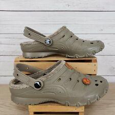 Skechers Cali Gear Khaki Tan Fleece Lined Slip On Clogs Mules Shoes Sz 7
