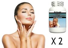 2x Anti Ageing Anti Wrinkle Tablets Pills Younger Youthful Clear Skin Collagen