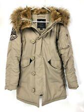 Alpha Industries Women's XS Type N-3B Parka Jacket Beige Farr-Pac