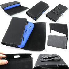 Leather Belt Clip Case Holster Pouch Cover for Apple iPhone (Fit Only With Case)