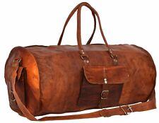 Bag Leather Walk Duffle Travel Men Luggage Gym Vintage Genuine Weekend Overnight