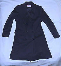 BYBLOS Italy -Wool Cashmere blend 3/4 Length Trenchcoat-Size 42=Small-Navy-Nice