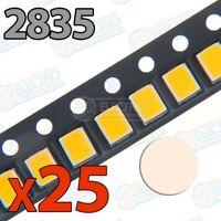 LED SMD 2835 60mA 200mW - Blanco Calido - Lote 25 unidades - Arduino Electronica