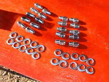 20 cragar uni-lug mag wheel 3/4 shank lug nuts & offset washers,7/16 x20 ratrod