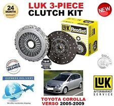 FOR TOYOTA COROLLA VERSO 2.2 D4D CLUTCH KIT 2005-2009 LUK 3 PIECE 136BHP 177BHP