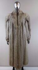 Blue Fox Fur Coat Size M-L