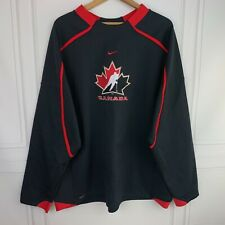 Team Canada Mens XXL Nike Fit Therma Pullover Black Sweater EUC