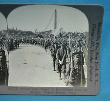 WW1 Stereoview Photo France Does Honor To Gallant Sons Of Britain Paris Keystone