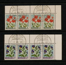 (YYAK 012) Iceland 1958 FDC First Day Cancel Flowers Block of 4