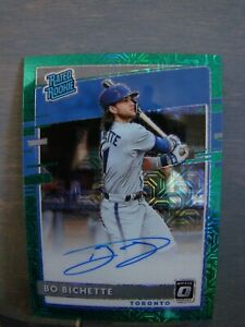 BO BICHETTE 2020 Donruss Optic Green Prizm Rated Rookie On-Card AUTO S#13/99