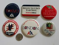 Lot of six American Airlines vintage pins. Old AA logo. Price cut!