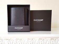 Duchamp schwarzes Leder Tri-Fold Geldbörse