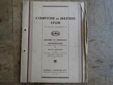 Antica opuscolo contatore di materiale Lione massoneria anni 1930 outillage