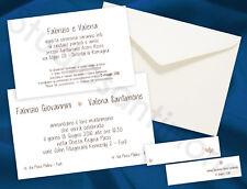 Partecipazioni Nozze Wedding Invitation Inviti Matrimonio Classica Bianca Avorio