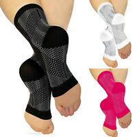 Ankle Plantar Fasciitis Compression Socks Heel Foot Arch Copper Relief Support