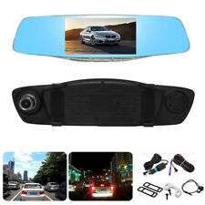 "Full HD 1080P 5"" Dual Lens Vehicle Rearview Mirror Camera Recorder Car DVR Dash"