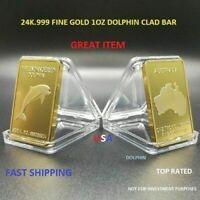DOLPHIN FLIPPER***24K 999 FINE GOLD CLAD SPECIAL OFFER BID DOLPHIN FLIPPER