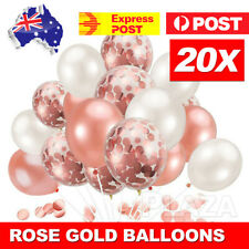 20pcs Rose Gold Confetti Balloons For Birthday Marriage Party Decoration GIFT AU
