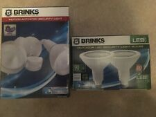 Brinks Motion Activated Floodlight 180-Degree WHITE 7141W w/led bulbs 2