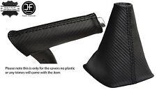 BLACK STITCH CARBON VINYL GEAR & HANDBRAKE HANDLE COVER FITS AUDI A3 8P 04-12