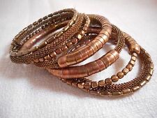 Spring Street Metal Coil Bracelet in a Rich Brown Copper Tone