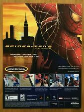 Spider-Man 2 PS2 Playstation 2 Xbox Gamecube 2004 Poster Ad Advert Art Print PS4