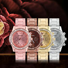 Women's Fashion Geneva Bling Crystal Stainless Steel Analog Quartz Wrist WatchLJ