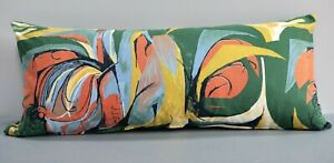 Vintage 1958 Fabric Bolster Cover 'Sweetcorn' by Barbara Brown for Heals 30x70cm