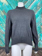 J. Crew Women's Long Sleeve Everyday Mockneck Sweater XL Gray 100% Cashmere