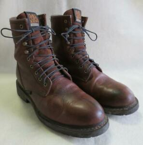 "Ariat 10.5 D Cascade Men's Work Boots 8"" Tall Waterproof Brown Leather 10002397"
