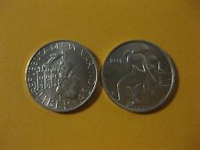 1994 San Marino  Coin 1 Lire   MOTER AND CHILD     nice little coin    jewelery