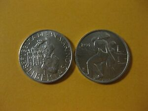 1994 San Marino  Coin 1 Lire   MOTHER AND CHILD   nice little coin
