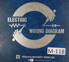 Mazak  Mazatrol Circuit Diagrams, Sequences, Quick Slant 20 Chucker  Manual 1983