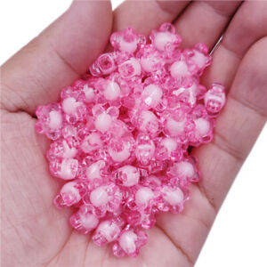 20Pcs 12mm Double layer Flower Beads DIY Craft For Jewelry Making Pendant