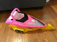 """BARBIE Hot Pink SPEED BOAT Watercraft Vehicle 20"""" Plastic Toy"""