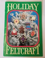 Vtg Holiday Feltcraft 1983 Ornament Tree skirt + More  Pattern Book  Christmas