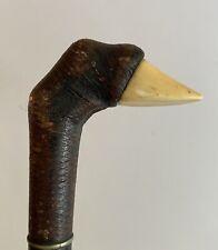 "New listing Antique Bone Handle Hoof Shaped Walking Stick / Cane 34 1/2"""