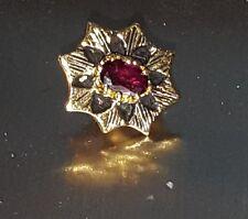 14kt 14 Karat Yellow Gold R Klein Klien KLJCI Slide Bracelet Charm Ruby