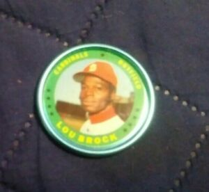 1971 Topps Coins Lou Brock #87 near mint - mint (see scan)