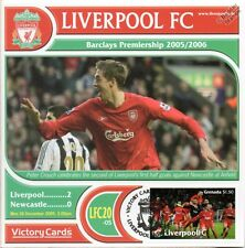 Liverpool 2005-06 Newcastle (Peter Crouch) Football Stamp Victory Card #520