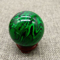 Green Malachite Crystal Ball Sphere Green Quartz Crystal Ball Healing Ball 40mm