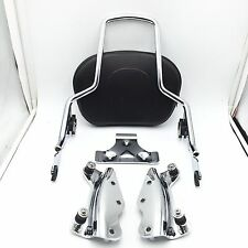 Backrest Sissy Bar w/ 4 Point Docking Hardware For Harley Touring 09-13 FLHR FLH
