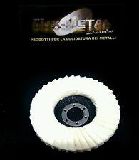 Disco lucidatura feltro lamellare 115 mm acciaio alluminio ottone rame marmo