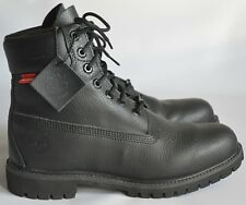 "Timberland 6859A 6"" Premium Waterproof Black Exotic Leather Boots UK8 US8.5 EU42"