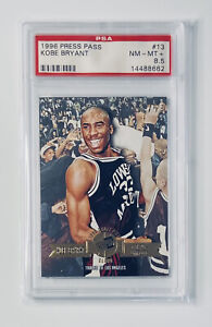 1996 Press Pass Gold #13 Kobe Bryant Rookie PSA 8.5🔥Pop 4 📈 HOF Investment