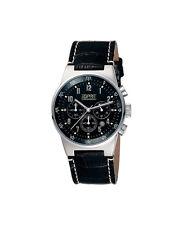 ESPRIT Uhr Armbanduhr Leder Schwarz Equalizer Black ES000T31020 NEU OVP 2016